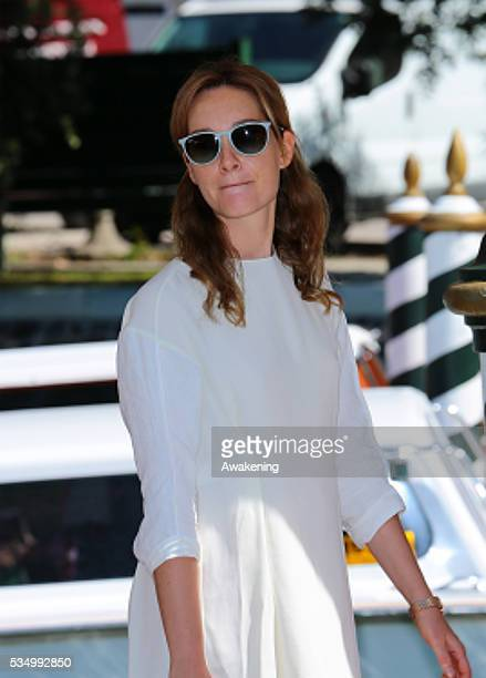 Cristiana Capotondi leaving from the Hotel Excelsior during the 71th Venice Film Festival in Venice Italy