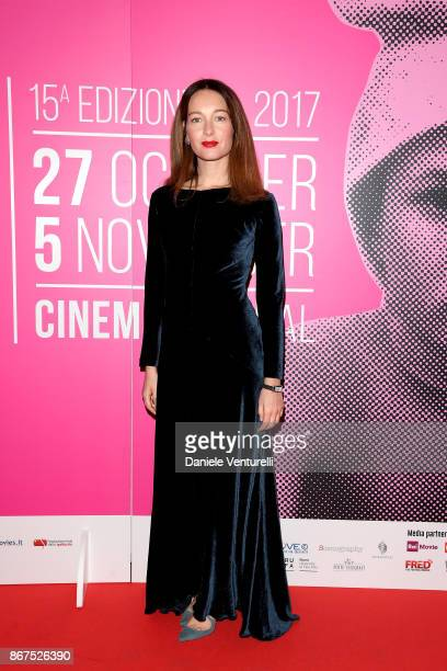 Cristiana Capotondi walks a red carpet for 'Metti Una Notte' during the 12th Rome Film Fest on October 28 2017 in Rome Italy