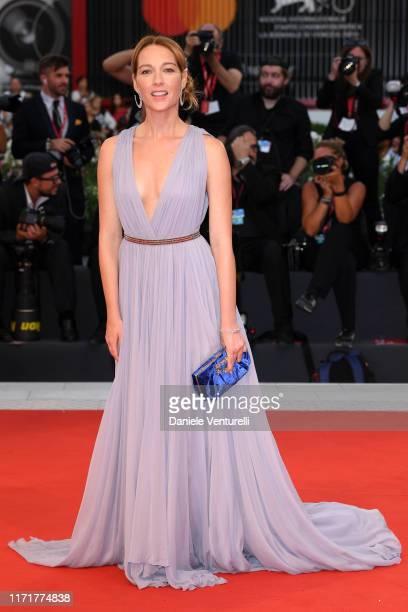 Cristiana Capotondi walks the red carpet ahead of the Martin Eden screening during the 76th Venice Film Festival at Sala Grande on September 02 2019...