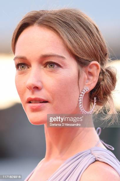 Cristiana Capotondi walks the red carpet ahead of the Martin Eden screening during the 76th Venice Film Festival at Sala Grande on September 02 2019...