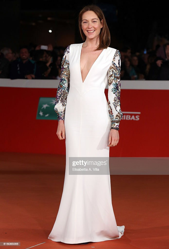 Cristiana Capotondi walks the red carpet for '7 Minuti' during the 11th Rome Film Festival at Auditorium Parco Della Musica on October 21, 2016 in Rome, Italy.