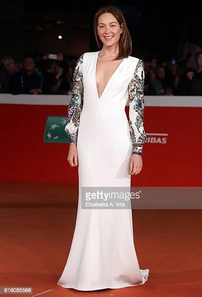 Cristiana Capotondi walks the red carpet for '7 Minuti' during the 11th Rome Film Festival at Auditorium Parco Della Musica on October 21 2016 in...