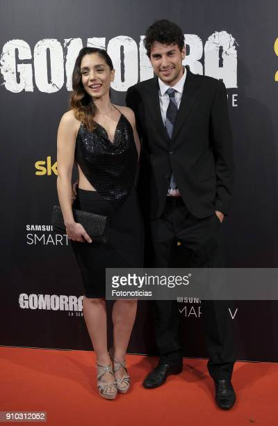 Cristiana Dell'Anna and guest attend the 'Gomorra' premiere at Palacio de la Prensa cinema on January 25 2018 in Madrid Spain
