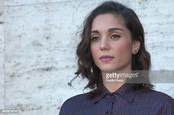 """Cristiana Dell'Anna attends a photocall for """"Mister Felicita"""". Mister Felicità, a film directed by Alessandro Siani."""