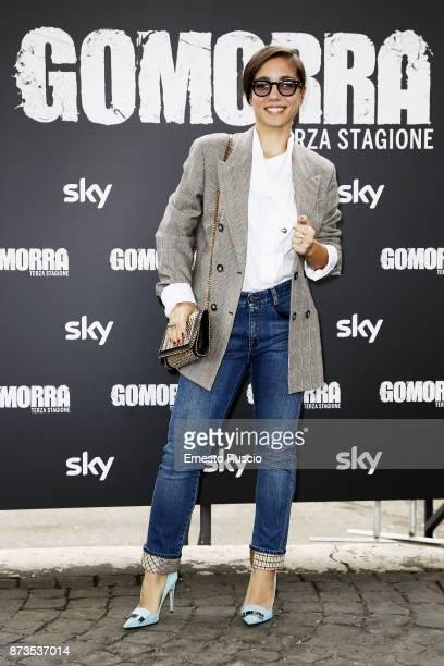 Cristiana Dell'Anna attends the 'Gomorra' photocall at Ex Dogana on November 13 2017 in Rome Italy