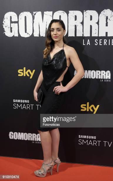 Cristiana Dell'Anna attends the 'Gomorra' premiere at Palacio de la Prensa cinema on January 25 2018 in Madrid Spain
