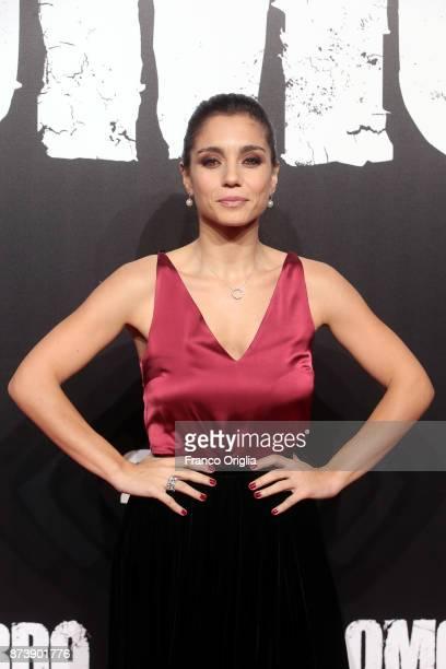 Cristiana Dell'Anna attends the 'Gomorra' premiere on November 13 2017 in Rome Italy