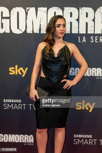 Cristiana Dell'Anna attends the 'Gomorra' season 3 premiere at Palacio de la Prensa on January 25 2018 in Madrid Spain