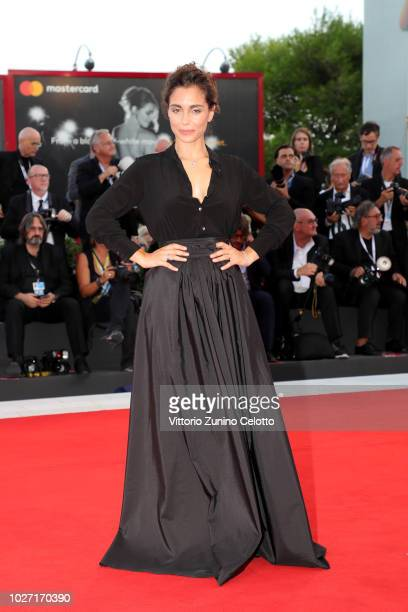 Cristiana Dell'Anna walks the red carpet ahead of the '22 July' screening during the 75th Venice Film Festival at Sala Grande on September 5 2018 in...
