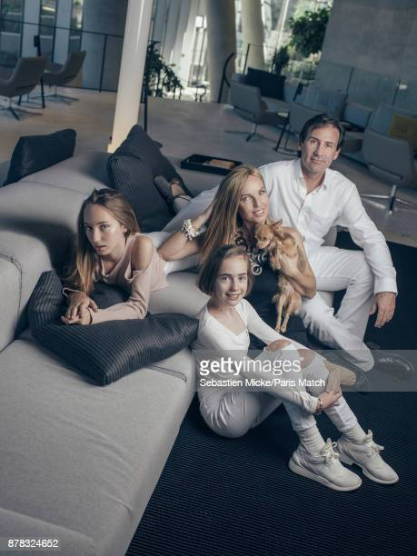 Cristiana Delrieu daughter of Edoarda Crociani and sister of Camilla de Bourbon des DeuxSicile is photographed for Paris Match at home in Miami with...