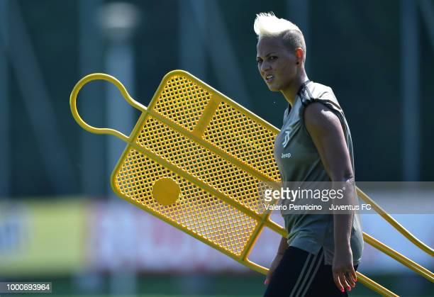 Cristiana Girelli during a Juventus Women training session at Juventus Center Vinovo on July 17 2018 in Vinovo Italy