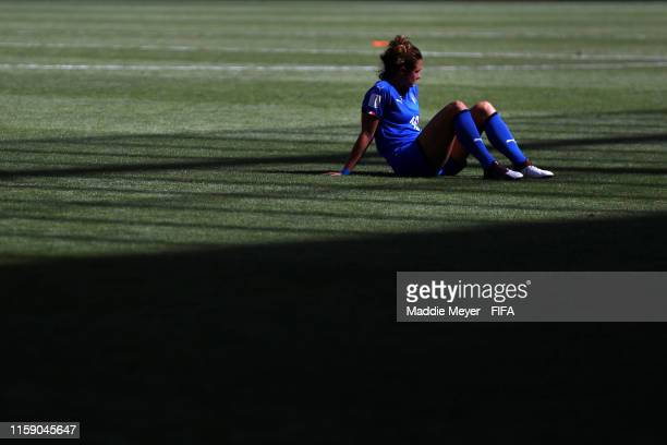 Cristiana Girelli of Italy looks dejected following the 2019 FIFA Women's World Cup France Quarter Final match between Italy and Netherlands at Stade...