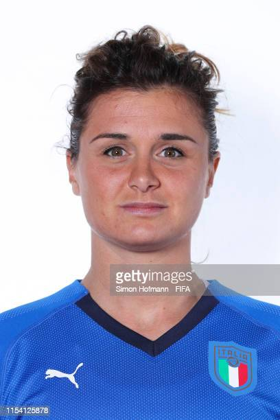 Cristiana Girelli of Italy poses for a portrait during the official FIFA Women's World Cup 2019 portrait session at Royal Hainaut Spa & Resort Hotel...