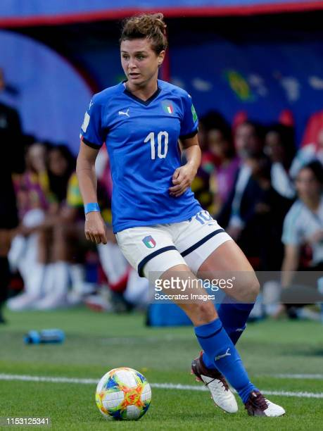 Cristiana Girelli of Italy Women during the World Cup Women match between Italy v Brazil at the Stade du Hainaut on June 18, 2019 in Valenciennes...
