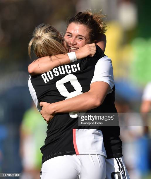 Cristiana Girelli of Juventus Women celebrates after scoring opening goal during the Italian Supercup match between Juventus Women and Fiorentina...