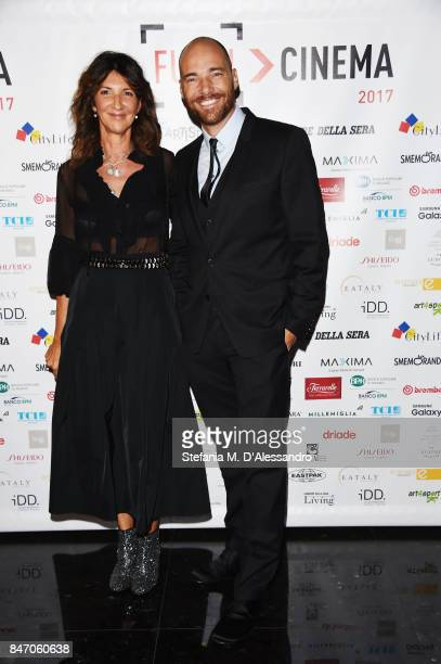 Cristiana Mainardi and Andrea Pezzi attend the Gala Dinner of FuoriCinema on September 14 2017 in Milan Italy