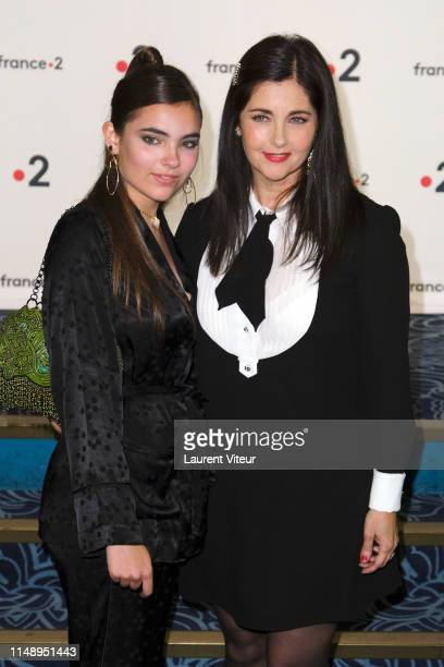 Cristiana Reali and her daughter Toscane Huster attend 31 eme Nuit des Molieres at Theatre de Folies Bergeres on May 13 2019 in Paris France
