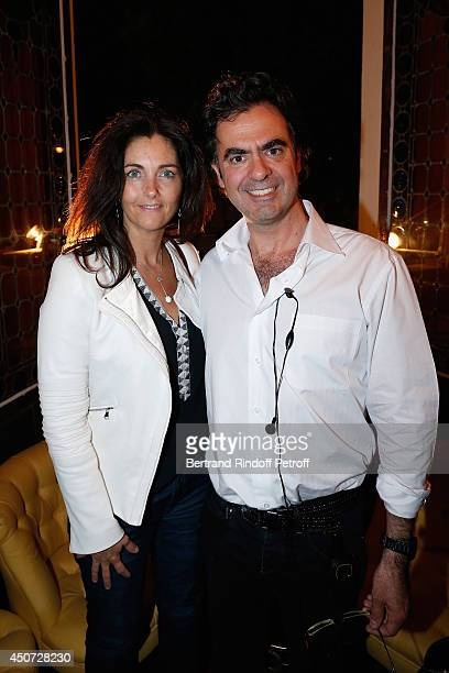 Cristiana Reali and Olivier Belmondo attend the 'Concours D'Art Dramatique' at Theatre Antoine on June 16 2014 in Paris France