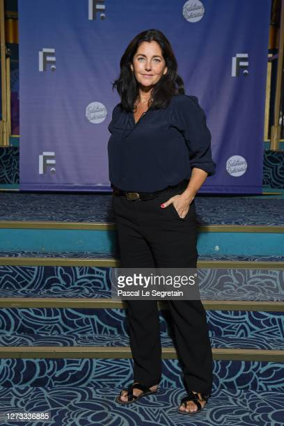 Cristiana Reali attends the Debate About Women's Position In The Media At Festival Fiction De La Rochelle At Folies Bergeres on September 18, 2020 in...