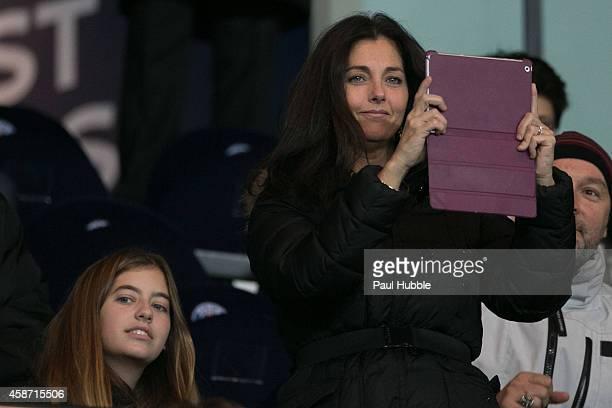 Cristiana Reali attends the Paris Saint Germain vs Olympique de Marseille football match at Parc des Princes on November 9, 2014 in Paris, France.