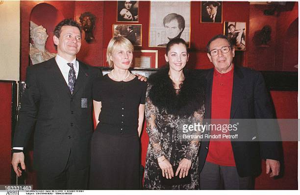 Cristiana Reali Francis Huster Candice Patou Robert Hossein at thePreview Of La Dame Aux Camelias In Paris
