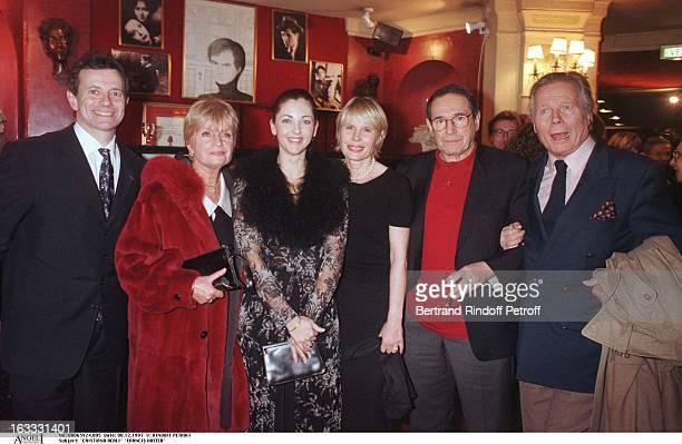 Cristiana Reali, Francis Huster, Francoise Dorin, Candice Patou, Robert Hossein, Jean Piat at thePreview Of La Dame Aux Camelias In Paris.