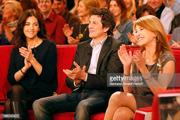 Cristiana Reali Guillaume Canet and Nicole Calfan attend 'Vivement Dimanche' French TV Show for the 80th anniversary of JeanPaul Belmondo at Pavillon...