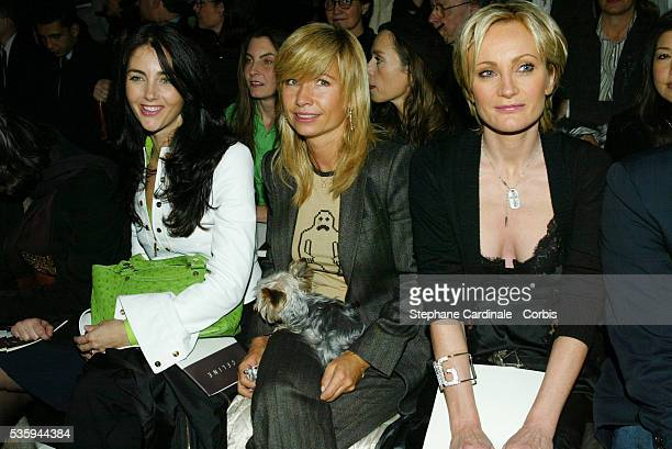 Cristiana Reali Natty Belmondo and Patricia Kass attend the 2004 Celine fashion show