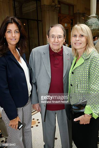 Cristiana Reali Robert Hossein and Candice Patou attend the Wedding of Francois Florent And Kanee Danevong at Mairie Du XVIII on September 12 2014 in...