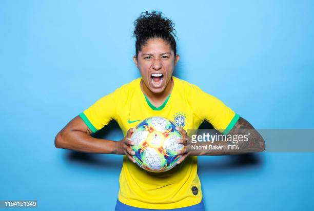 Cristiane of Brazil poses for a portrait during the official FIFA Women's World Cup 2019 portrait session at Grand Hotel Uriage on June 06 2019 in...