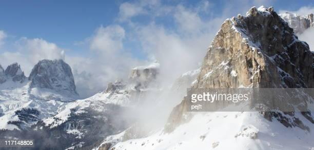 Cristiania winter mountain peak the Dolomites