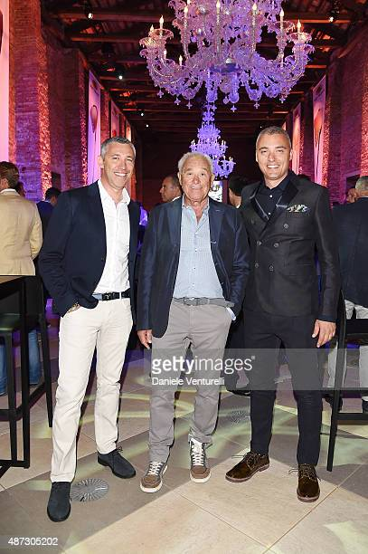 Cristiano Barbazza Rudy Barbazza and Simone Barbazza attend a party for 'Rudy Project' 30th Anniversary Party during the 72nd Venice Film Festival at...