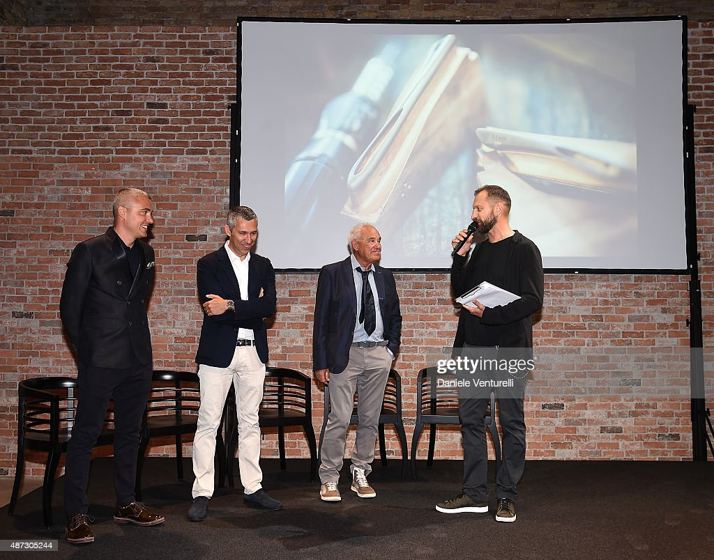 Cristiano Barbazza, Rudy Barbazza and Simone Barbazza attend a party for 'Rudy Project' 30th Anniversary Party during the 72nd Venice Film Festival at Granai dell'Hotel Cipriani on September 8, 2015 in Venice, Italy.