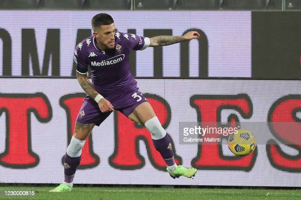 Cristiano Biraghi of ACF Fiorentina in action during the Serie A match between ACF Fiorentina and Genoa CFC at Stadio Artemio Franchi on December 7,...