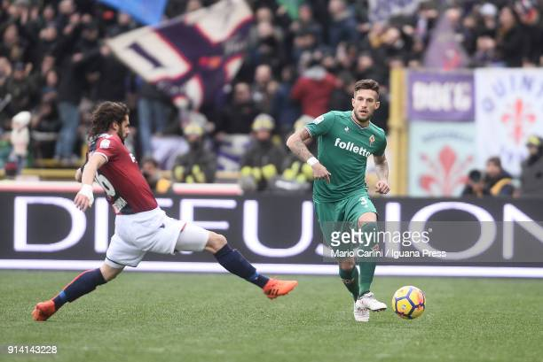 Cristiano Biraghi of ACF Fiorentina in action during the serie A match between Bologna FC and ACF Fiorentina at Stadio Renato Dall'Ara on February 4...