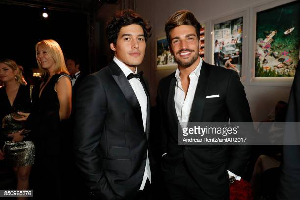 Cristiano Caccamo and Mariano Di Vaio attend amfAR Gala Milano on September 21 2017 in Milan Italy