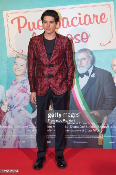 Cristiano Caccamo attends a photocall for 'Puoi Baciare Lo Sposo' on February 28 2018 in Milan Italy