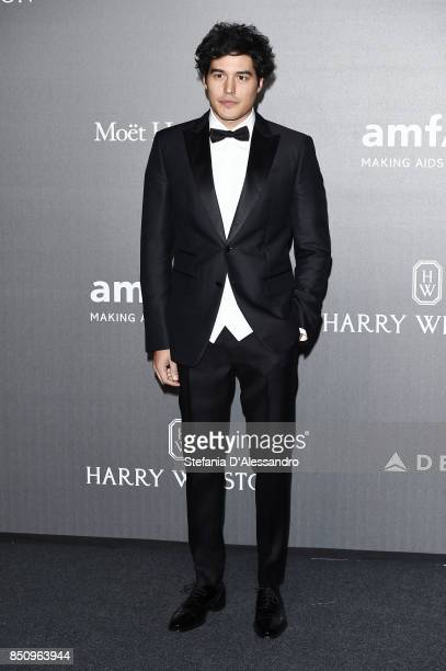 Cristiano Caccamo walks the red carpet of amfAR Gala Milano on September 21 2017 in Milan Italy