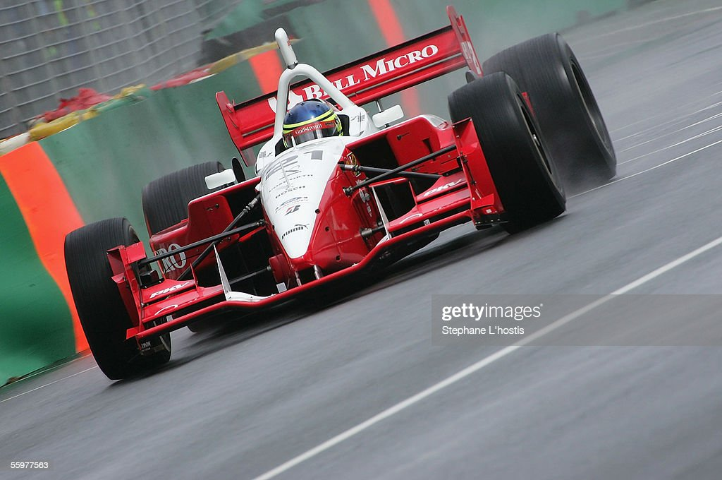 Cristiano da Matta from PKV Racing in action during the First Qualifying session for the Lexmark Indy 300, October 21, 2005 on the Gold Coast, Australia.