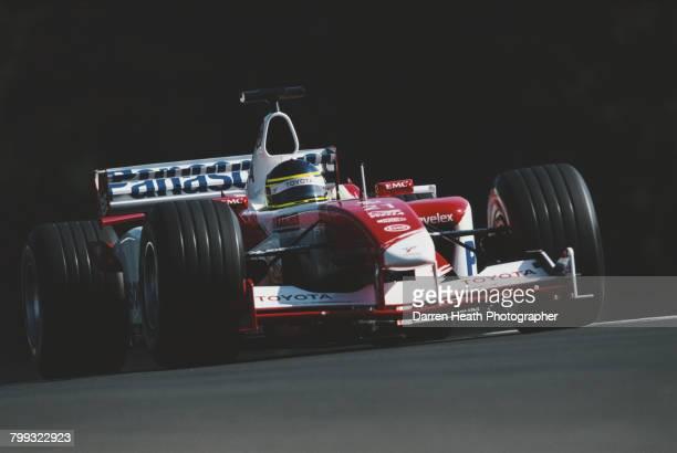 Cristiano da Matta of Brazil drives the Panasonic Toyota Racing Toyota TF103 Toyota V10 during the Formula One Austrian Grand Prix on 18 May 2003 at...
