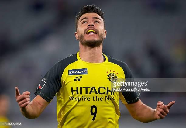 Cristiano da Silva of Kashiwa Reysol celebrates after scoring a goal during the J.League Meiji Yasuda J1 match between FC Tokyo and Kashiwa Reysol at...