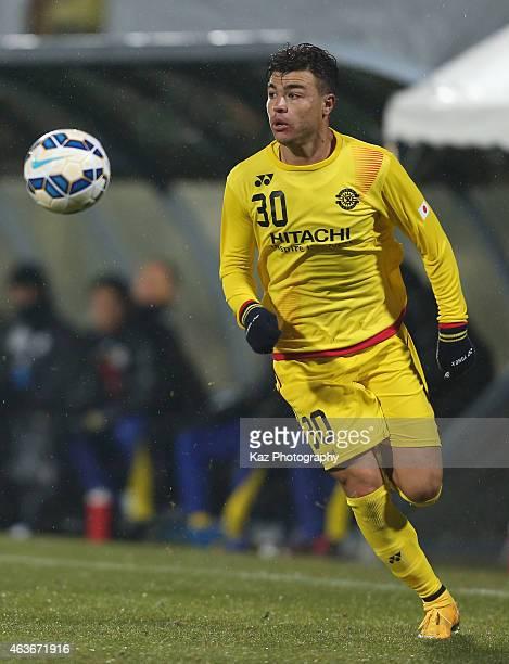 Cristiano da Silva of Kashiwa Reysol in action during the AFC Champions League playoff round match between Kashiwa Reysol and Chonburi FC at Hitachi...