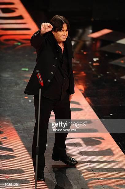 Cristiano De Andre attends opening night of the 64th Festival di Sanremo 2014 at Teatro Ariston on February 20 2014 in Sanremo Italy