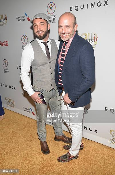 Cristiano De Masi and Alessandro Maria Ferreri attend the 3rd Annual Gold Meets Golden event to celebrate the 2015 Special Olympic Games at Equinox...