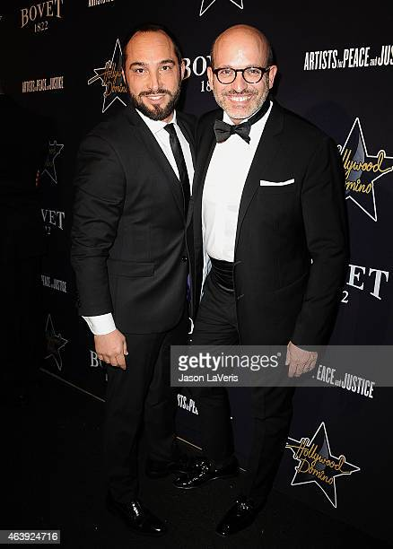 Cristiano de Masi and Alessandro Maria Ferreri attend the Hollywood Domino annual preOscar charity soiree at Sunset Tower Hotel on February 19 2015...