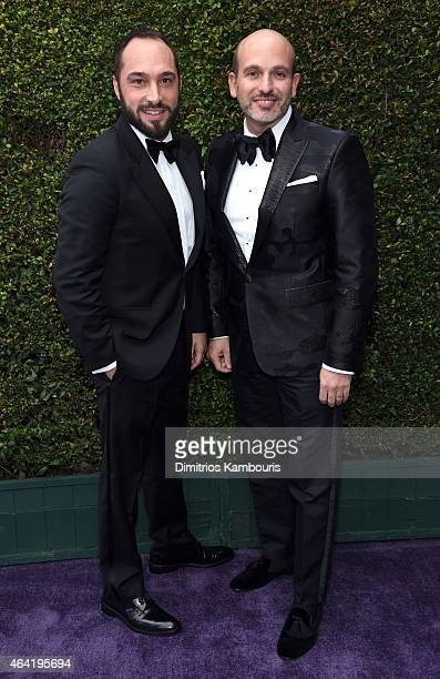 Cristiano de Masi and Alessandro Maria Ferreri attends the 23rd Annual Elton John AIDS Foundation Academy Awards Viewing Party on February 22 2015 in...