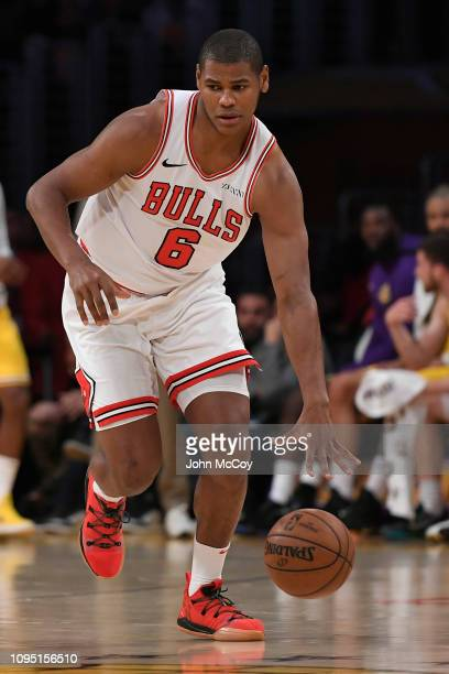 Cristiano Felicio of the Chicago Bulls plays against the Los Angeles Lakers at Staples Center on January 15 2019 in Los Angeles California NOTE TO...