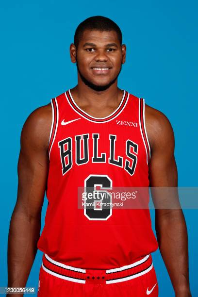 Cristiano Felicio of the Chicago Bulls poses for a head shot during NBA Content Day on December 10, 2020 at the United Center in Chicago, Illinois....