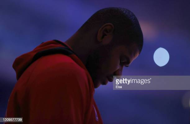 Cristiano Felicio of the Chicago Bulls stands during player introductions before the game against the New York Knicks at Madison Square Garden on...