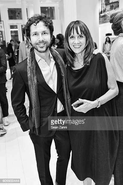 Cristiano Magni and Cinzia Brandi attend An Intimate Conversation with Deepak Chopra Brunello Cucinelli Harper's Bazaar at Brunello Cucinelli Soho on...